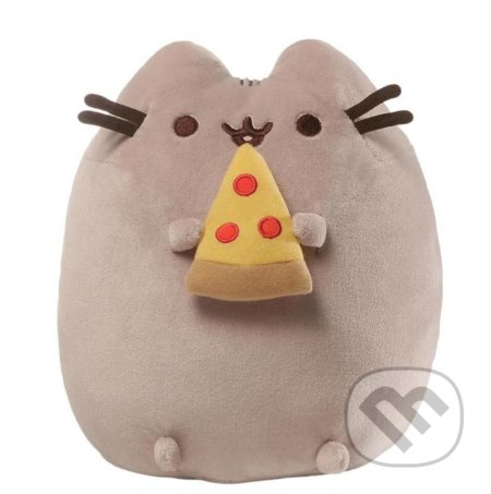 Pusheen a pizza