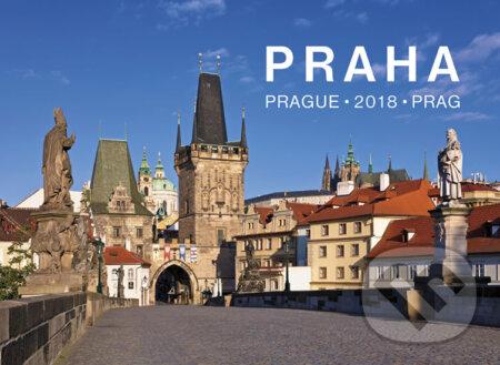 Kalendář nástěnný 2018 - Praha – Prague - Prag - Pražský svět