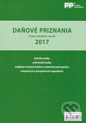 Daňové priznania k dani z príjmov za rok 2017 - Valéria Jurinkovičová, Marián Drozd, Ľubica Sekerková