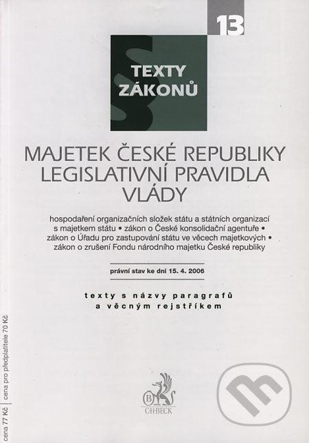 Peticenemocnicesusice.cz Majetek České republiky, Legislativní pravidla vlády Image