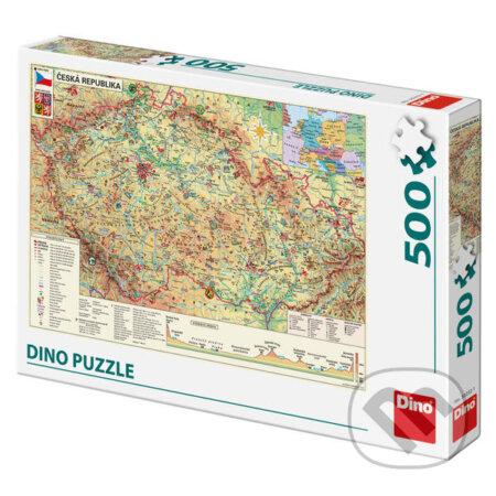 Mapa České republiky - Dino