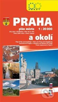Praha plán města a okolí 2018 - Žaket