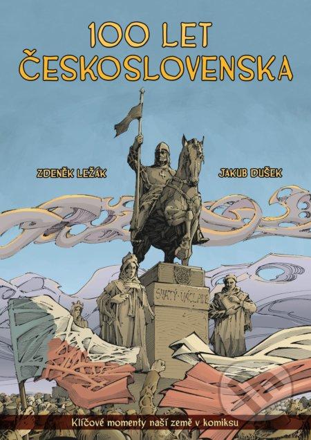 100 let Československa v komiksu - Zdeněk Ležák, Jakub Dušek (ilustrátor)