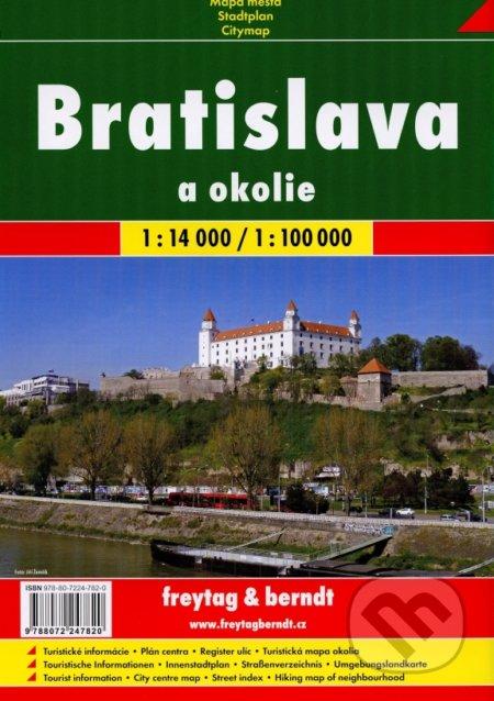 Bratislava a okolie 1:14 000, 1:100 000 -