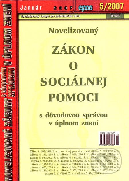 Fatimma.cz Novelizovaný Zákon o sociálnej pomoci Image