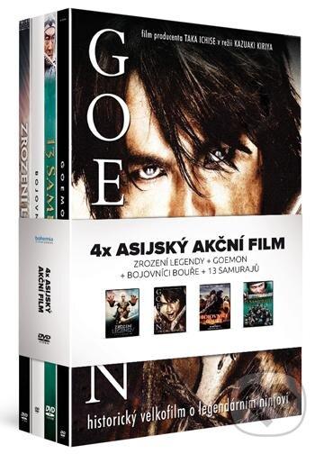 4x Asijský akční film (4DVD): Zrození legendy + Goemon + Bojovníci bouře + 13 samurajů DVD