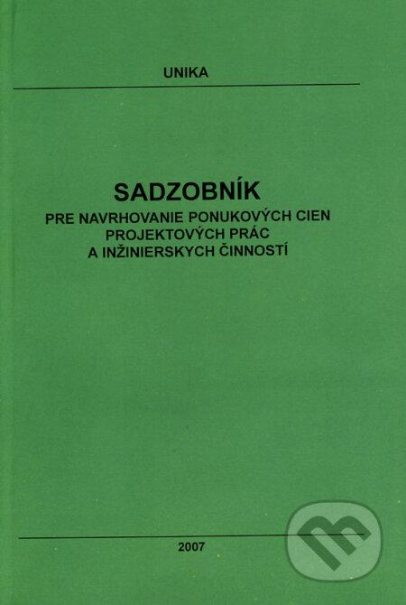 Fatimma.cz Sadzobník pre navrhovanie ponukových cien projektových prác a inžinierskych činností 2007 Image