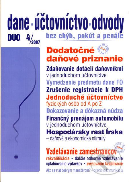 Fatimma.cz Dane, účtovníctvo, odvody 4/2007 Image