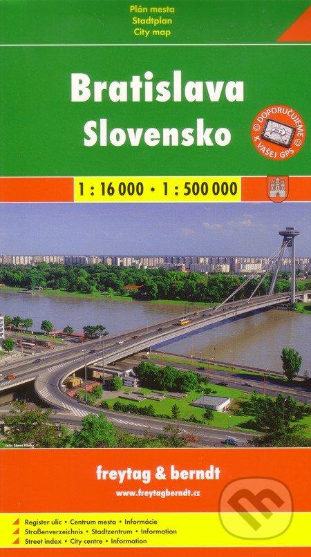 Bratislava, Slovensko 1:16 000 1:500 000 -