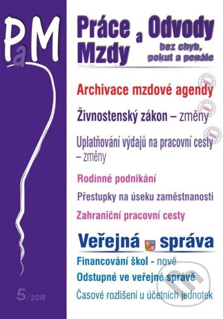 Práce a mzdy, odvody 5/2018 (CZ) - Poradce s.r.o.
