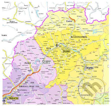 Peticenemocnicesusice.cz Nástenná administratívna mapa SR 1:300 000 Image