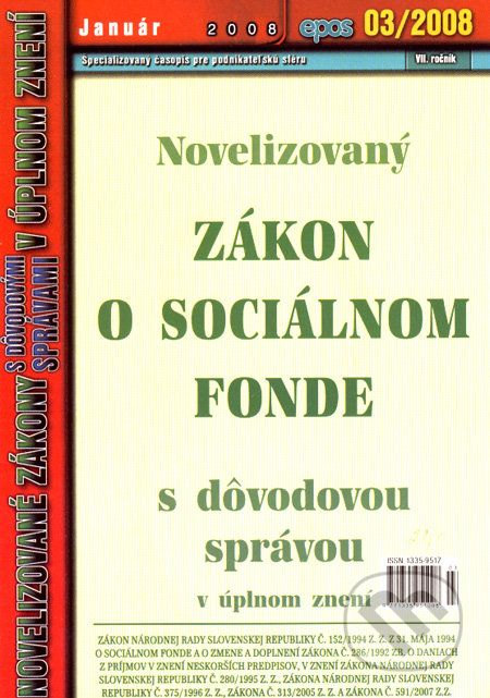 Fatimma.cz Novelizovaný Zákon o sociálnom fonde Image