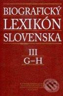 Fatimma.cz Biografický lexikón Slovenska III (G - H) Image