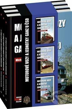 Motorové vozy a jednotky Ganz u ČSD (sada) - Michal Martinek