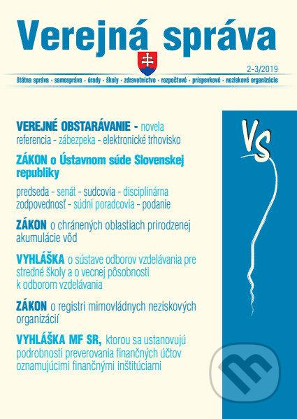 Fatimma.cz Verejná Správa 2-3/2019 - Verejné obstarávanie – novela,  Zákon o Ústavnom súde Image