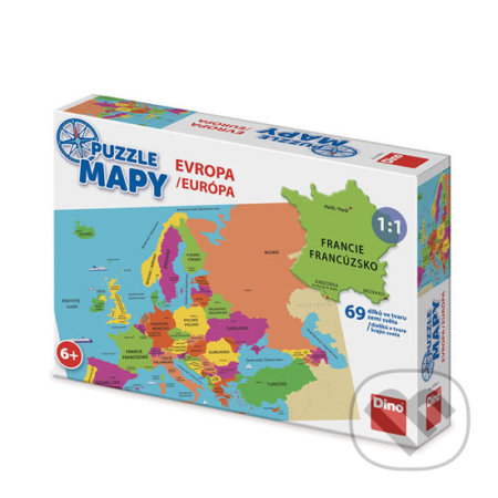 Puzzle mapy Evropa -