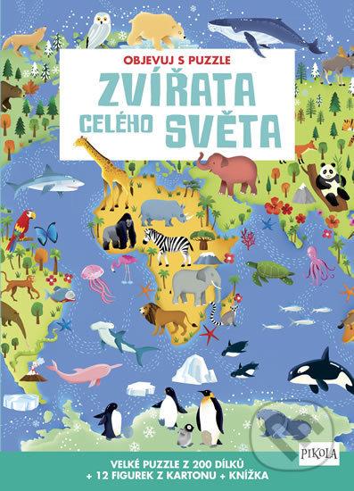 Objevuj s puzzle: Zvířata celého světa - Pikola