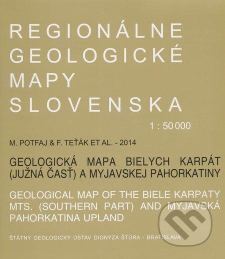 Peticenemocnicesusice.cz Geologická mapa Bielych Karpát 1:50 000 Image