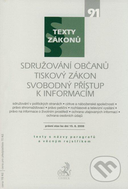 Peticenemocnicesusice.cz Sdružování občanů, Tiskový zákon, Svobodný přístup k informacím Image
