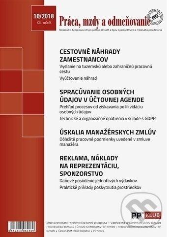 Práca, mzdy a odmeňovanie 10/2018 - Poradca podnikateľa