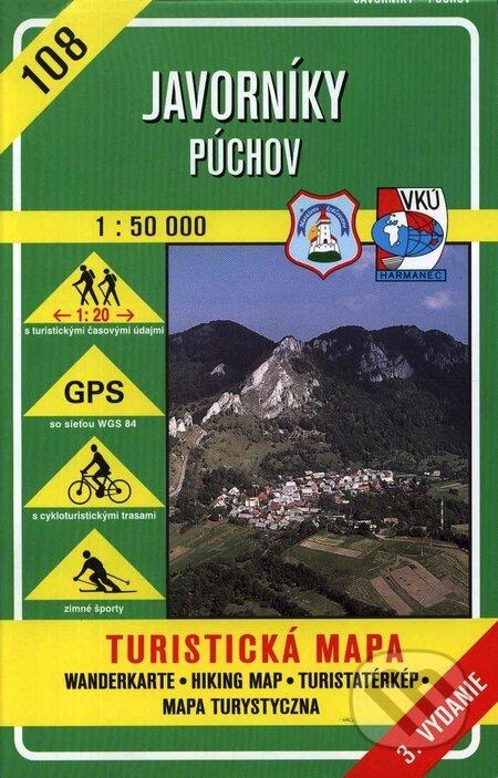 Interdrought2020.com Javorníky - Púchov - turistická mapa č. 108 Image