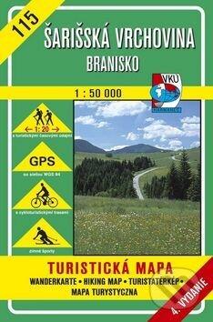 Fatimma.cz Šarišská vrchovina - Branisko - turistická mapa č. 115 Image