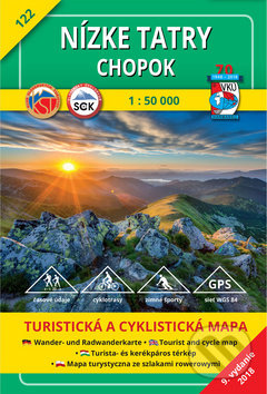 Nizke Tatry Chopok Turisticka Mapa C 122 Skladana Mapa