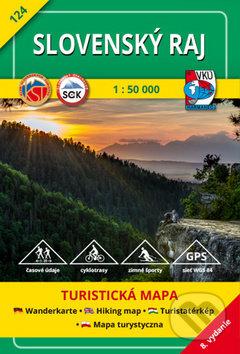 Interdrought2020.com Slovenský raj 1:50 000 - turistická mapa č. 124 Image