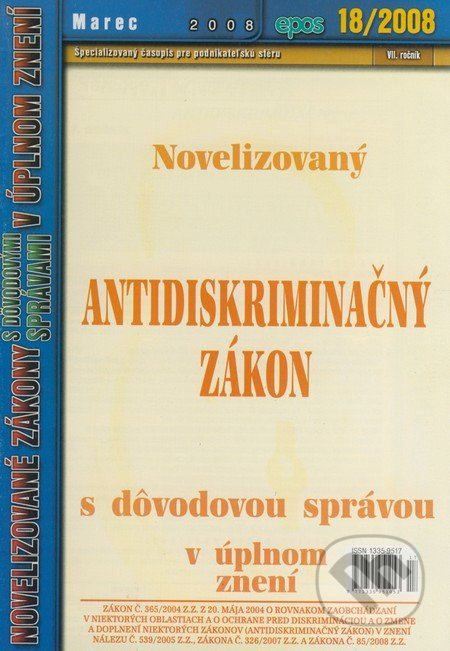 Interdrought2020.com Novelizovaný Antidiskriminačný zákon (18/2008) Image