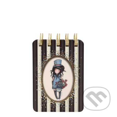 Gorjuss Stripes diár mini The Hatter -