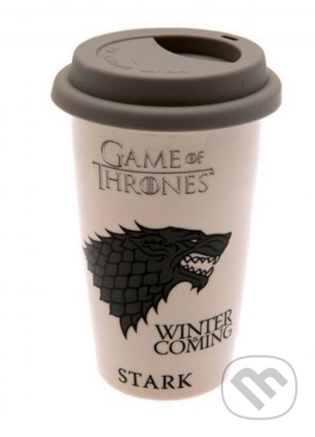 Keramický cestovný hrnček Game of Thrones: House Stark - Game of Thrones