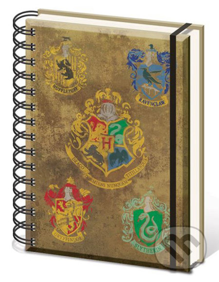 Poznámkový A5 blok Harry Potter: Hogwarts Crests -