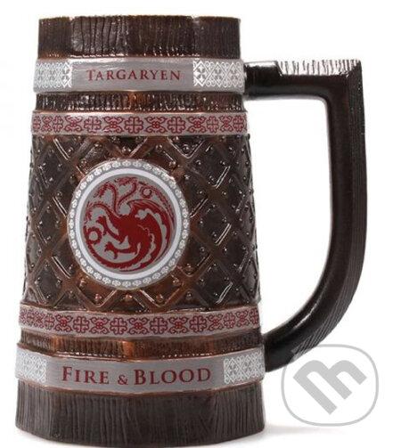 Keramický pivný korbel Game Of Thronesy: Targaryen - Game of Thrones