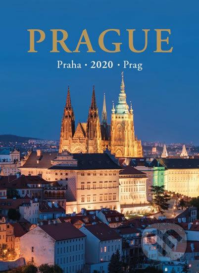Kalendář nástěnný 2020 - Praha / Prague / Prag 24,5 x 34 cm - Pražský svět