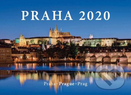 Kalendář nástěnný 2020 - Praha / Prague / Prag, 33,5 x 29 cm - Pražský svět