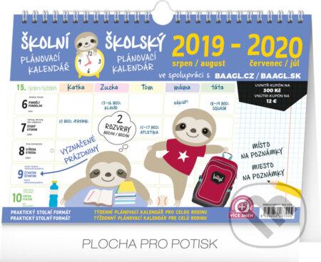 Školní plánovací kalendář s háčkem / školský plánovací kalendár s háčikom 2020 - Presco Group
