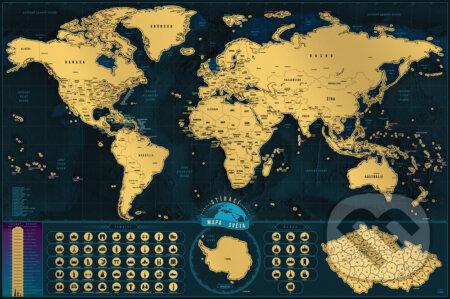 Cestovateľská stírací mapa světa - Giftio