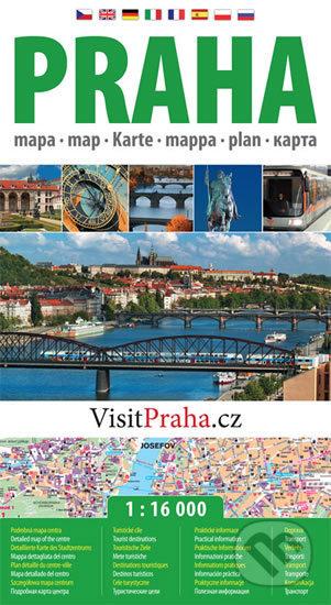 Praha - plán města 1:16 000 -