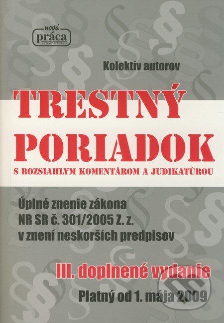 Fatimma.cz Trestný poriadok s rozsiahlym komentárom a judikatúrou Image