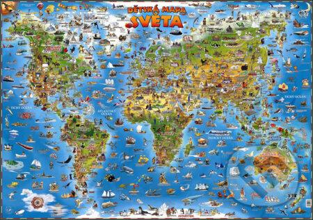 Dětská mapa světa - Slovart