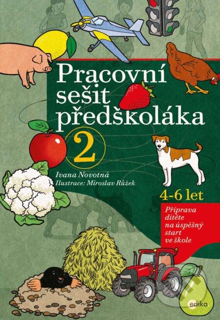 Pracovní sešit předškoláka 2 - Ivana Novotná, Miroslav Růžek (ilustrácie)