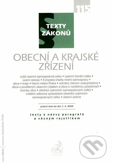 Fatimma.cz Obecní a krajské zřízení - právní stav ke dni 1.4.2009 Image
