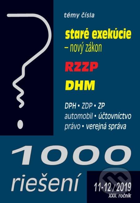 Excelsiorportofino.it 1000 riešení 11-12/2019 - Ukončenie exekúcii, RZZP, Dlhodobý hmotný majetok Image