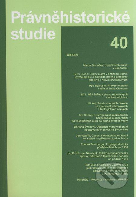 Právněhistorické studie 40 - Karolinum