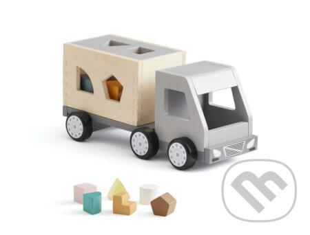 Náklaďák s kostkami dřevěný Aiden - Kids Concept