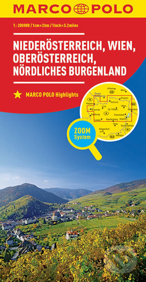 Rakousko č. 1 mapa 1:200T - Marco Polo