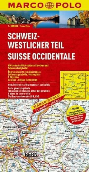 Švýcarsko 1 - západ/mapa - Marco Polo