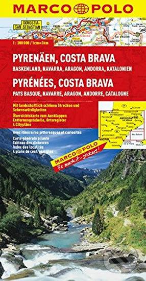 Pyreneje, Costa Brava/mapa - Marco Polo