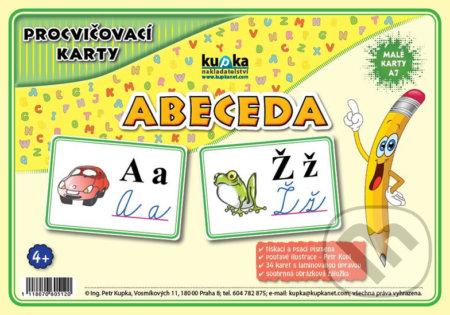 Procvičovací karty - abeceda - Petr Kupka