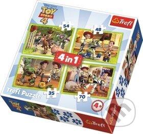Toy Story 4: Příběh hraček 4v1 - Trefl